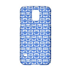 Blue And White Owl Pattern Samsung Galaxy S5 Hardshell Case  by creativemom