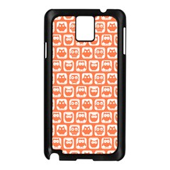 Coral And White Owl Pattern Samsung Galaxy Note 3 N9005 Case (black) by creativemom