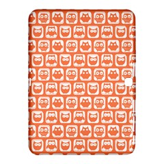 Coral And White Owl Pattern Samsung Galaxy Tab 4 (10 1 ) Hardshell Case