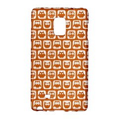 Orange And White Owl Pattern Galaxy Note Edge by creativemom