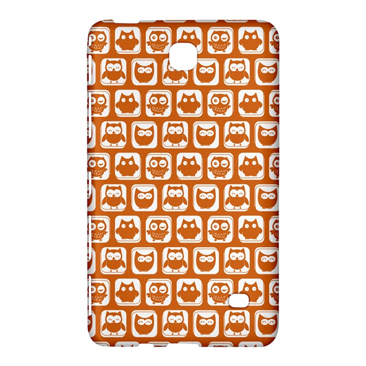 Orange And White Owl Pattern Samsung Galaxy Tab 4 (7 ) Hardshell Case