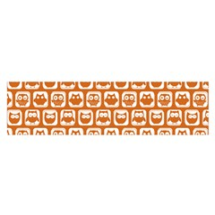 Orange And White Owl Pattern Satin Scarf (oblong) by creativemom