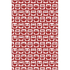 Red And White Owl Pattern 5 5  X 8 5  Notebooks