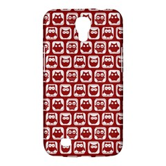 Red And White Owl Pattern Samsung Galaxy Mega 6 3  I9200 Hardshell Case by creativemom