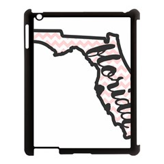 Florida Map Pride Chevron Apple Ipad 3/4 Case (black) by CraftyLittleNodes