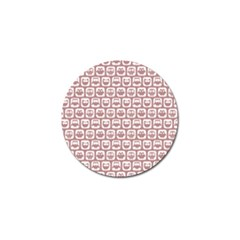 Light Pink And White Owl Pattern Golf Ball Marker by creativemom