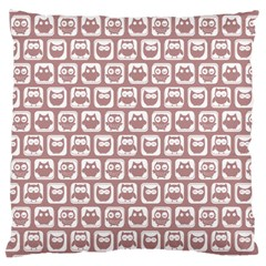 Light Pink And White Owl Pattern Large Cushion Cases (two Sides)  by creativemom