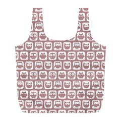 Light Pink And White Owl Pattern Full Print Recycle Bags (l)  by creativemom