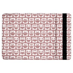 Light Pink And White Owl Pattern Ipad Air Flip