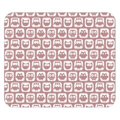 Light Pink And White Owl Pattern Double Sided Flano Blanket (small)  by creativemom