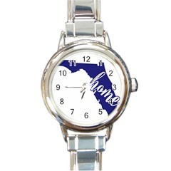 Florida Home  Round Italian Charm Watches