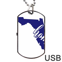 Florida Home  Dog Tag Usb Flash (two Sides)
