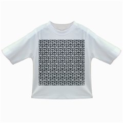Gray And White Owl Pattern Infant/toddler T-shirts