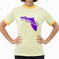 Florida Home State Pride Women s Fitted Ringer T Shirts