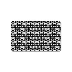 Black And White Owl Pattern Magnet (name Card)