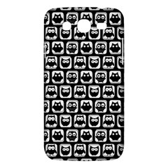 Black And White Owl Pattern Samsung Galaxy Mega 5 8 I9152 Hardshell Case  by creativemom