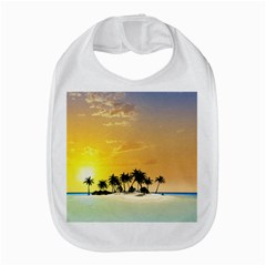 Beautiful Island In The Sunset Bib by FantasyWorld7