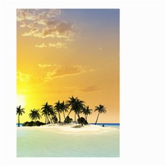 Beautiful Island In The Sunset Small Garden Flag (two Sides) by FantasyWorld7