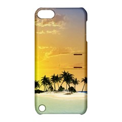 Beautiful Island In The Sunset Apple Ipod Touch 5 Hardshell Case With Stand by FantasyWorld7