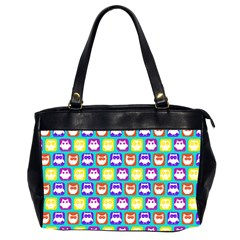 Colorful Whimsical Owl Pattern Office Handbags (2 Sides)  by creativemom