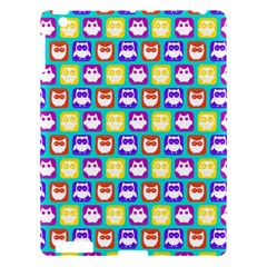 Colorful Whimsical Owl Pattern Apple Ipad 3/4 Hardshell Case by creativemom