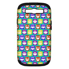 Colorful Whimsical Owl Pattern Samsung Galaxy S Iii Hardshell Case (pc+silicone) by creativemom