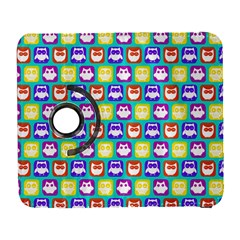 Colorful Whimsical Owl Pattern Samsung Galaxy S  Iii Flip 360 Case by creativemom