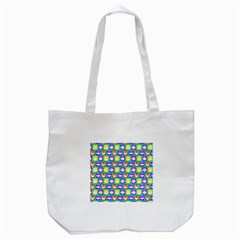 Colorful Whimsical Owl Pattern Tote Bag (white)  by creativemom