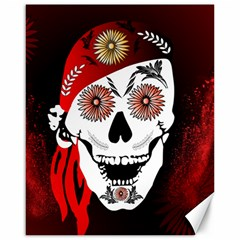 Funny Happy Skull Canvas 16  X 20   by FantasyWorld7