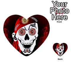 Funny Happy Skull Multi Purpose Cards (heart)  by FantasyWorld7
