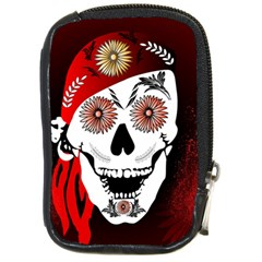 Funny Happy Skull Compact Camera Cases by FantasyWorld7