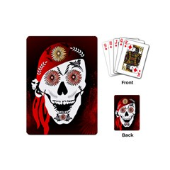 Funny Happy Skull Playing Cards (mini)  by FantasyWorld7