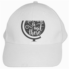 Adventure Is Out There White Cap by CraftyLittleNodes
