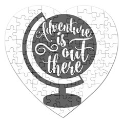 Adventure Is Out There Jigsaw Puzzle (heart) by CraftyLittleNodes