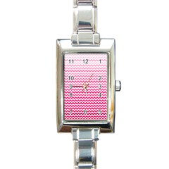 Pink Gradient Chevron Rectangle Italian Charm Watches by CraftyLittleNodes