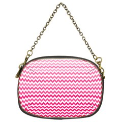 Pink Gradient Chevron Chain Purses (two Sides)  by CraftyLittleNodes