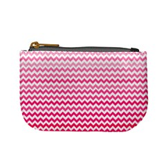 Pink Gradient Chevron Mini Coin Purses by CraftyLittleNodes