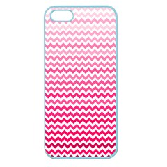 Pink Gradient Chevron Apple Seamless Iphone 5 Case (color) by CraftyLittleNodes