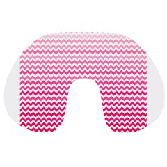 Pink Gradient Chevron Travel Neck Pillows