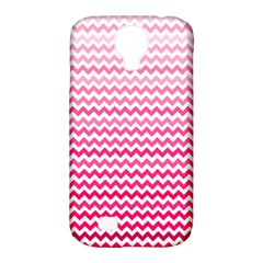 Pink Gradient Chevron Samsung Galaxy S4 Classic Hardshell Case (pc+silicone)