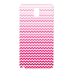 Pink Gradient Chevron Samsung Galaxy Note 3 N9005 Hardshell Back Case by CraftyLittleNodes