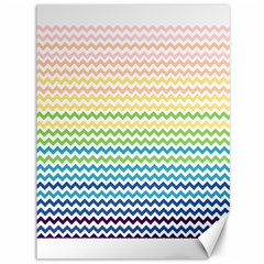Pastel Gradient Rainbow Chevron Canvas 36  X 48   by CraftyLittleNodes