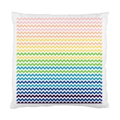 Pastel Gradient Rainbow Chevron Standard Cushion Cases (two Sides)  by CraftyLittleNodes