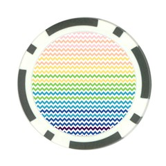 Pastel Gradient Rainbow Chevron Poker Chip Card Guards (10 Pack)  by CraftyLittleNodes