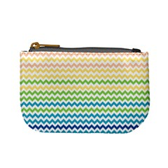 Pastel Gradient Rainbow Chevron Mini Coin Purses