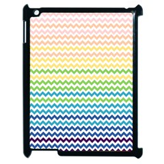 Pastel Gradient Rainbow Chevron Apple Ipad 2 Case (black) by CraftyLittleNodes