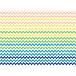 Pastel Gradient Rainbow Chevron Get Well 3D Greeting Card (7x5)  Front