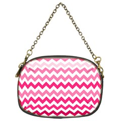 Pink Gradient Chevron Large Chain Purses (two Sides)  by CraftyLittleNodes