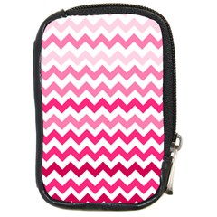 Pink Gradient Chevron Large Compact Camera Cases by CraftyLittleNodes
