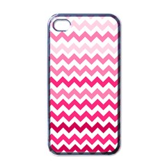 Pink Gradient Chevron Large Apple Iphone 4 Case (black) by CraftyLittleNodes